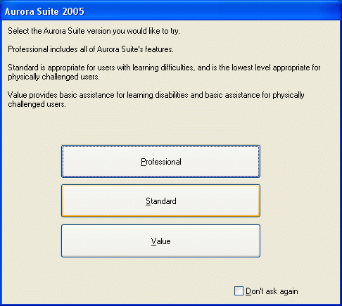 Demo Select Level Dialog