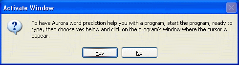 Automatic Activation Dialog