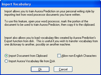Importing Vocabulary from your documents